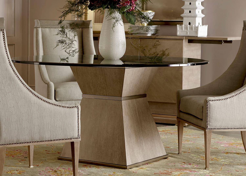 arnez table en verre ronde mobilart decor high end furniture. Black Bedroom Furniture Sets. Home Design Ideas