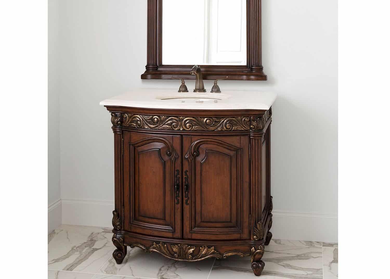 Cachet small powder room vanity mobilart decor high end for Small vanity for powder room