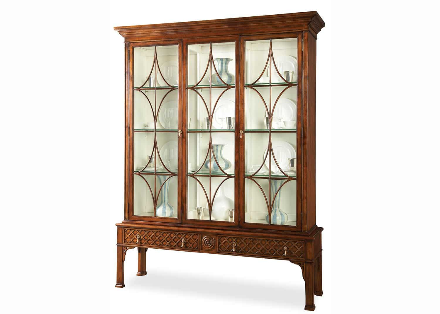 Chadwick chinese chippendale display cabinet mobilart for Oriental furniture montreal