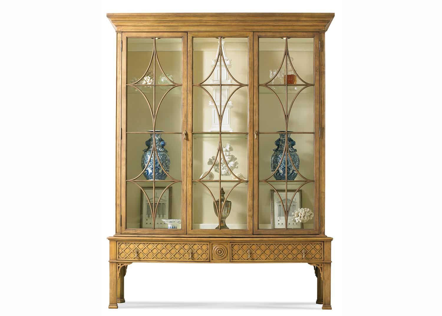 chadwick vitrine chinese chippendale mobilart decor high end furniture. Black Bedroom Furniture Sets. Home Design Ideas