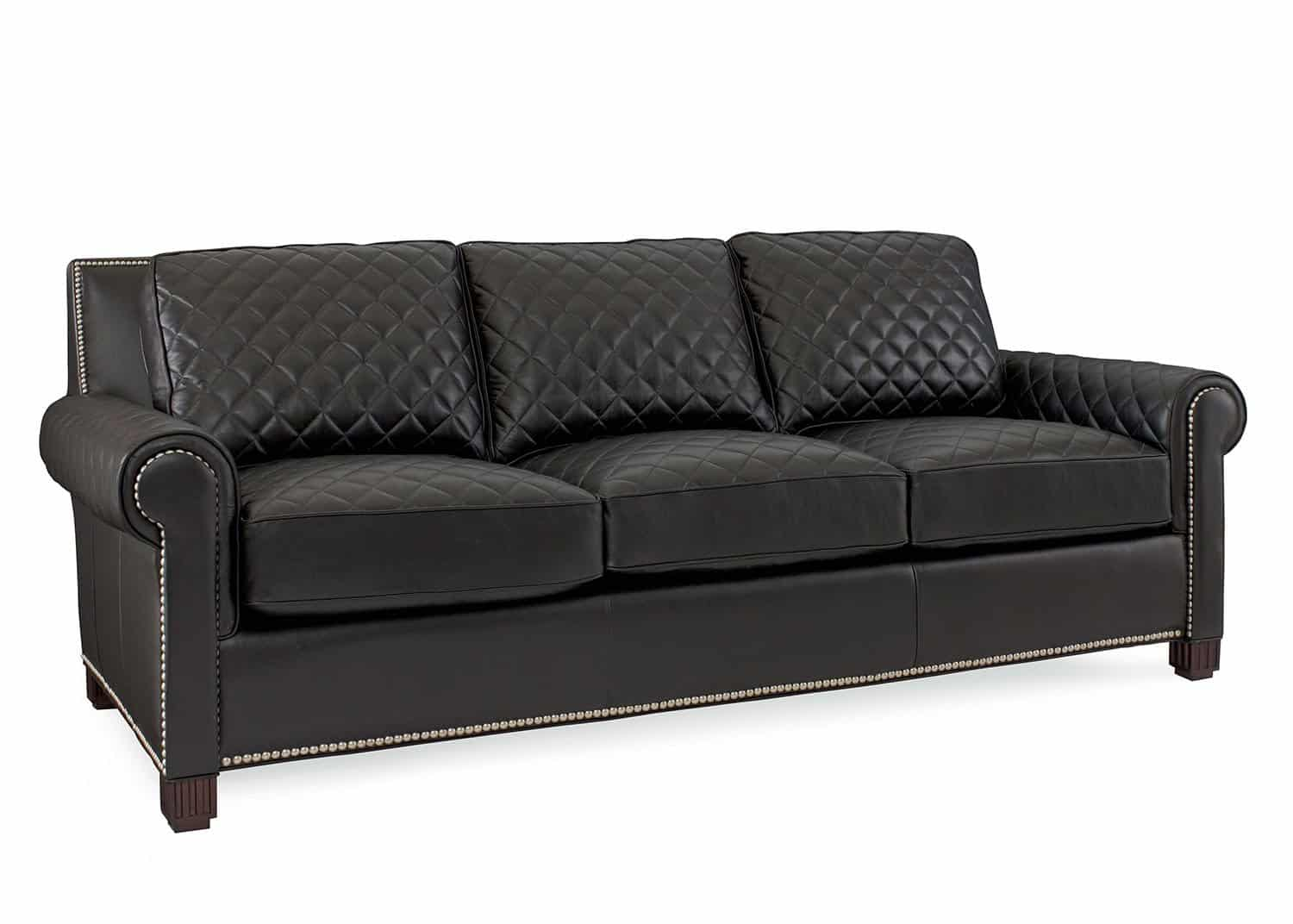 Coco Black Leather Sofa Mobilart Decor High End Furniture