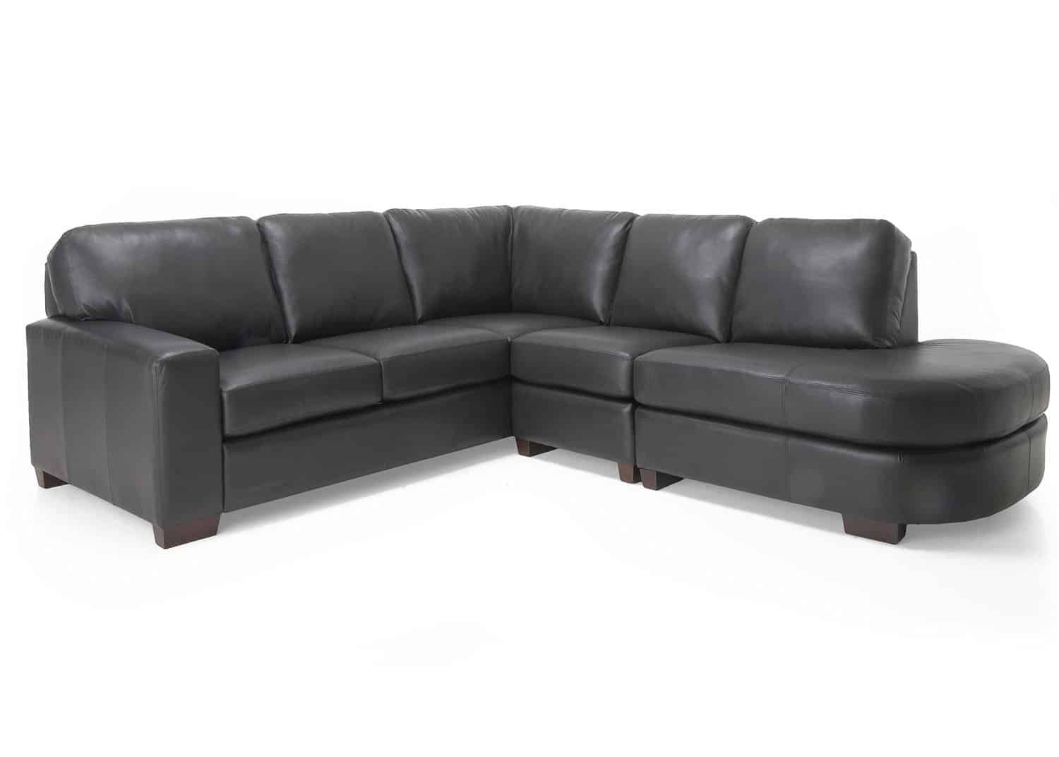 Cologne leather sectional sofa mobilart decor high end for Sofa cuir liquidation montreal