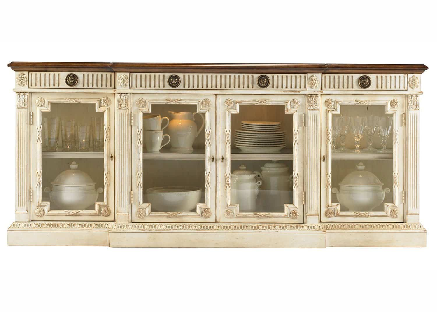 Deauville buffet vitr mobilart decor high end furniture for Buffet meuble montreal