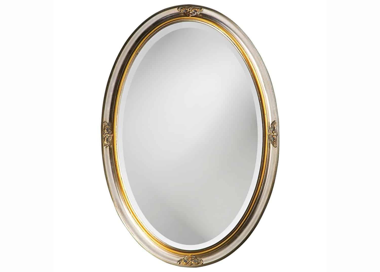 Heather oval mirror mobilart decor high end furniture for Miroir montreal