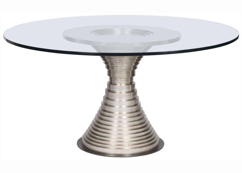 Klein round dining table mobilart decor high end furniture for High end dining tables