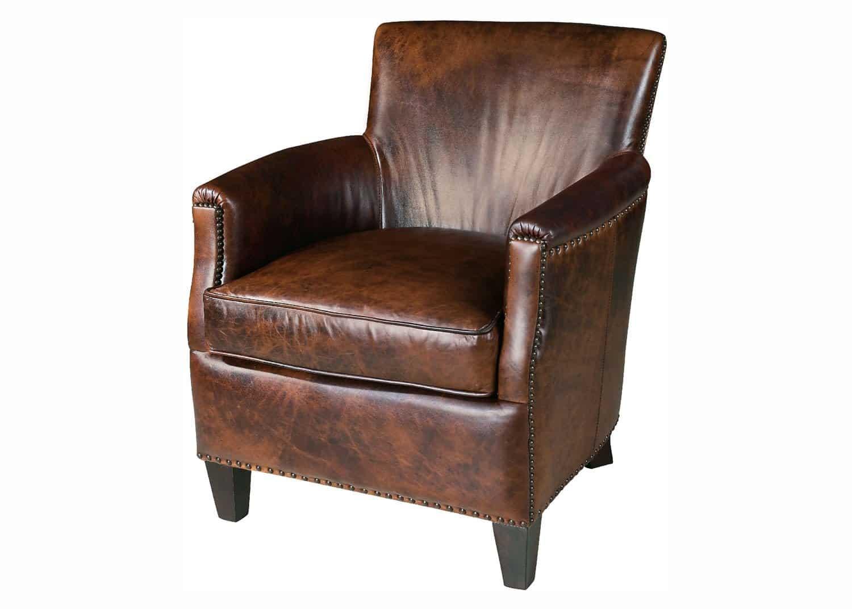 Nob Hill Leather Club Chair