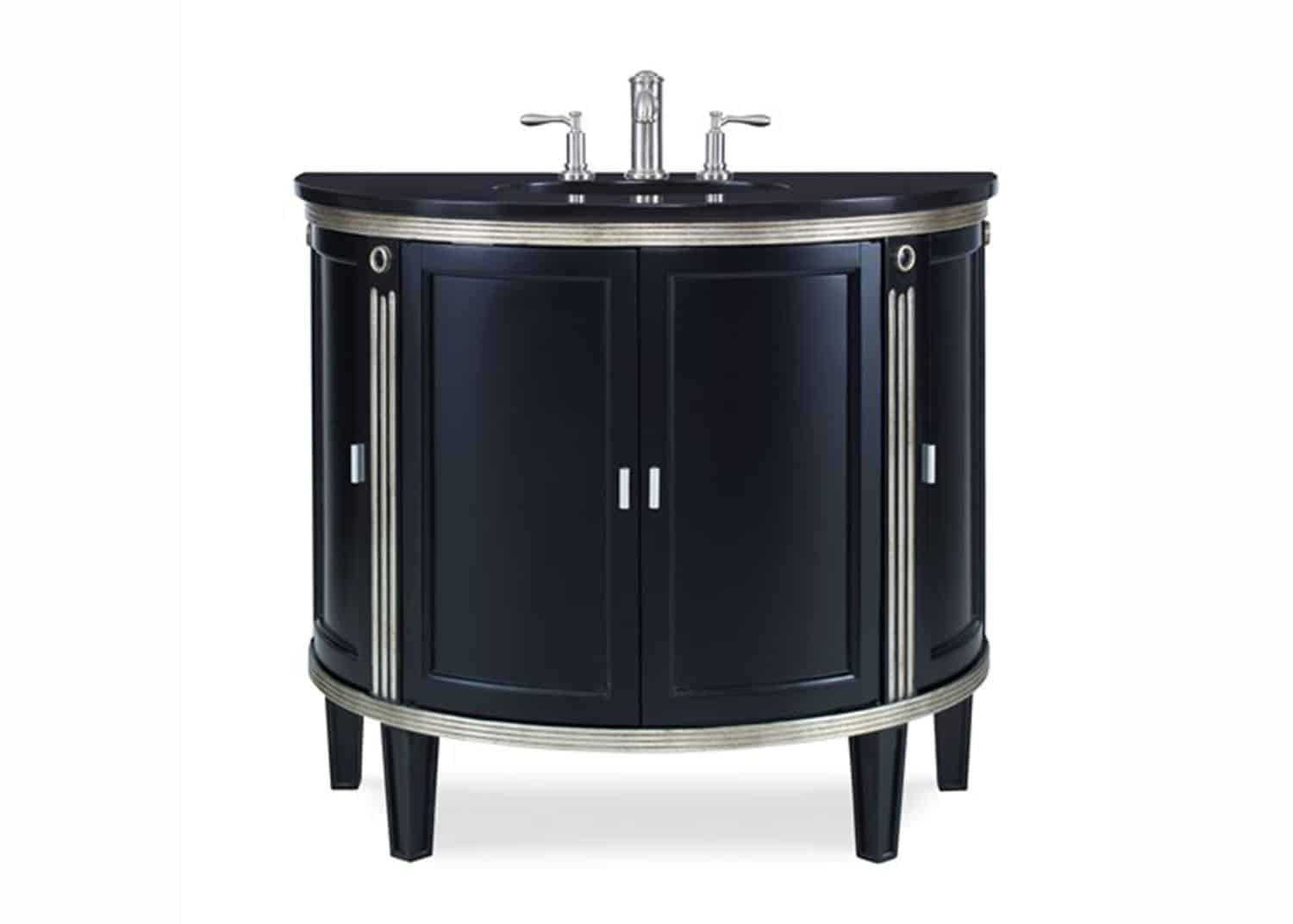 Paramount powder room vanity mobilart decor high end for Meuble furniture