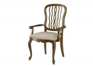 Serpentine slat-back armchair