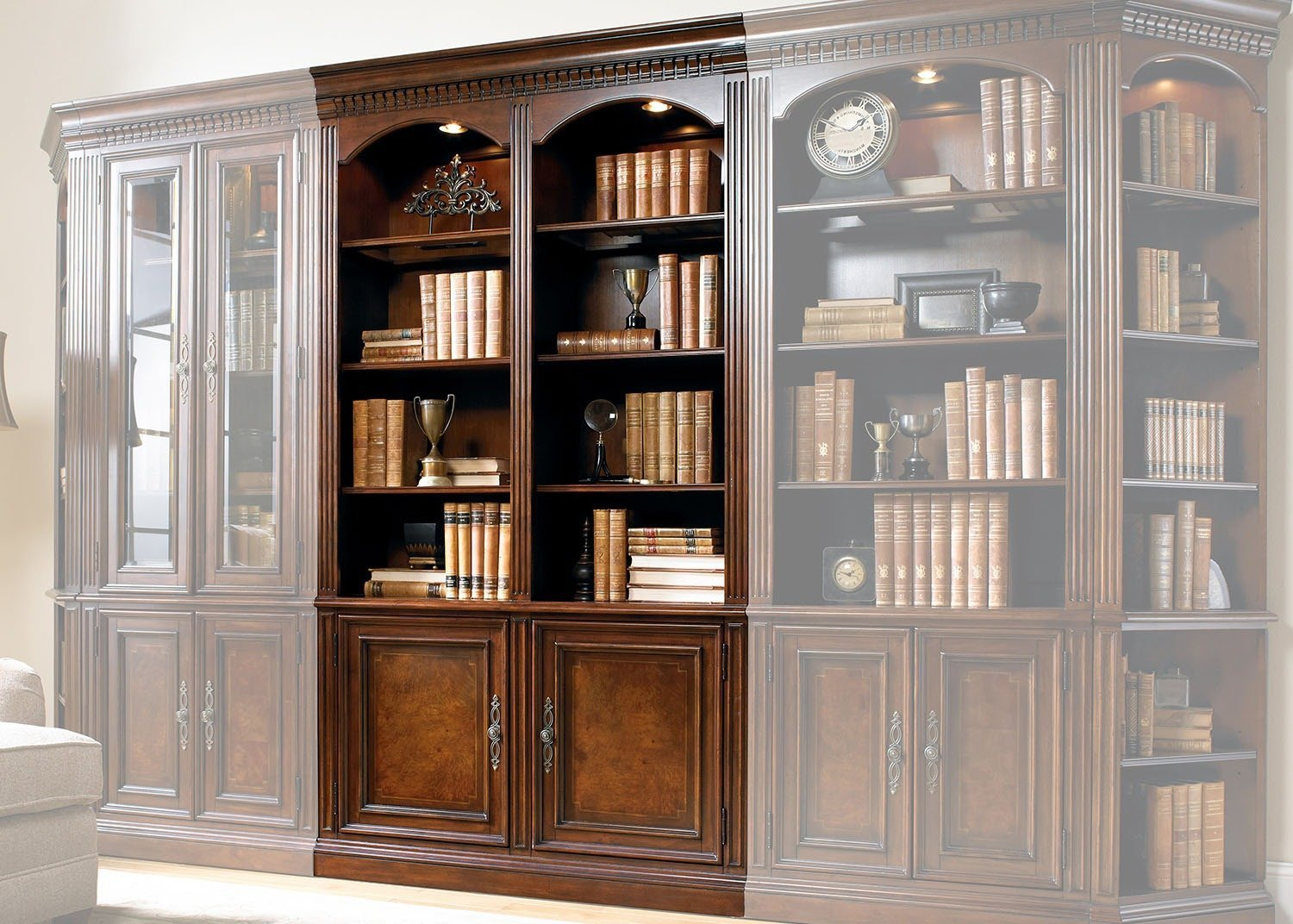 Augusta Double Bookcase Mobilart Decor High End Furniture