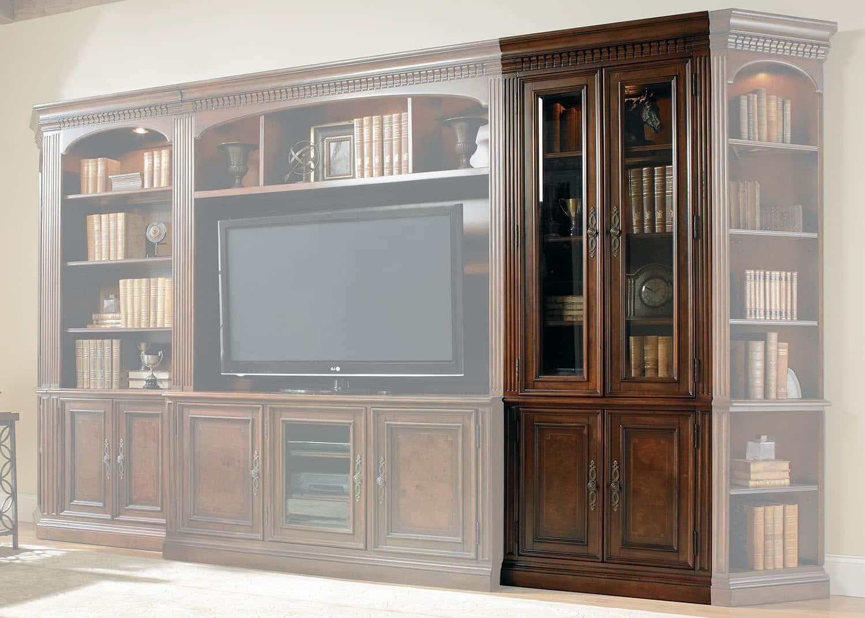 Augusta biblioth que portes vitr es mobilart decor high for Meubles sectionnels montreal