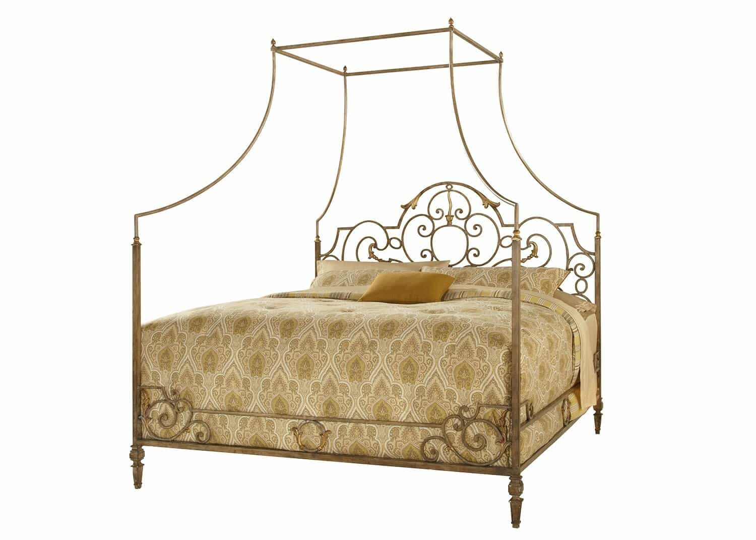 canterbury metal canaopy bed mobilart decor high end furniture. Black Bedroom Furniture Sets. Home Design Ideas