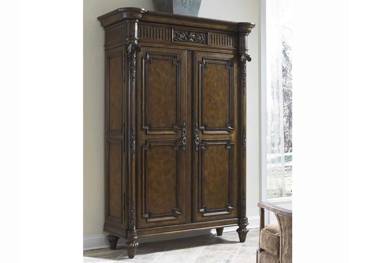 Chateaubriand Armoire Cabinet Audio Vid O Mobilart Decor High  # Meuble Audio Video Noyer