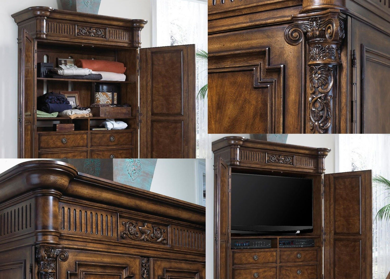 Chateaubriand armoire cabinet audio vid o mobilart decor for Meubles sectionnels montreal