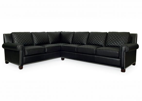Coco Black Leather Sectional Sofa Mobilart Decor High