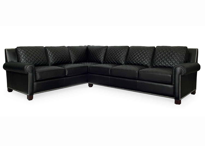 Coco sofa modulaire en cuir noir mobilart decor high end for Meubles sectionnels montreal