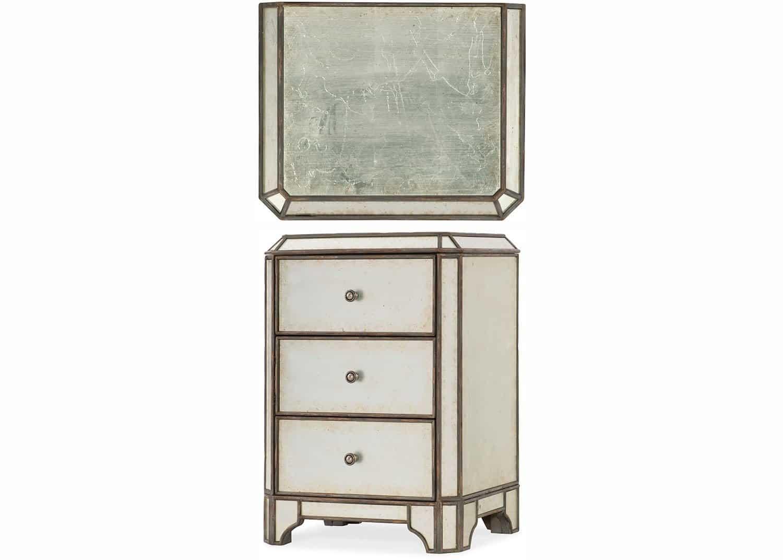 giselle table de chevet argent mobilart decor high end furniture. Black Bedroom Furniture Sets. Home Design Ideas
