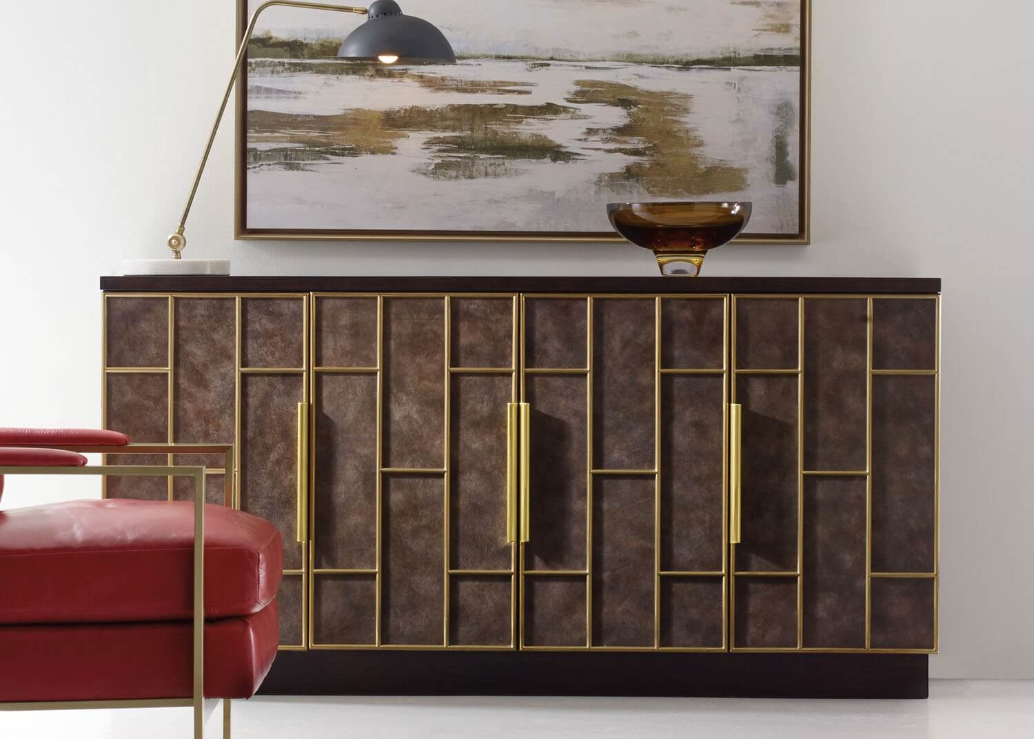 Nolan credenza mobilart decor high end furniture for Meubles newell montreal