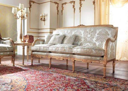 Sofa, Mobilart, Decor, Montreal, Furniture Store, High End, Italian Furniture, Made in Italy, Traditional, Gold leaf, Hand Made, European Furniture, European
