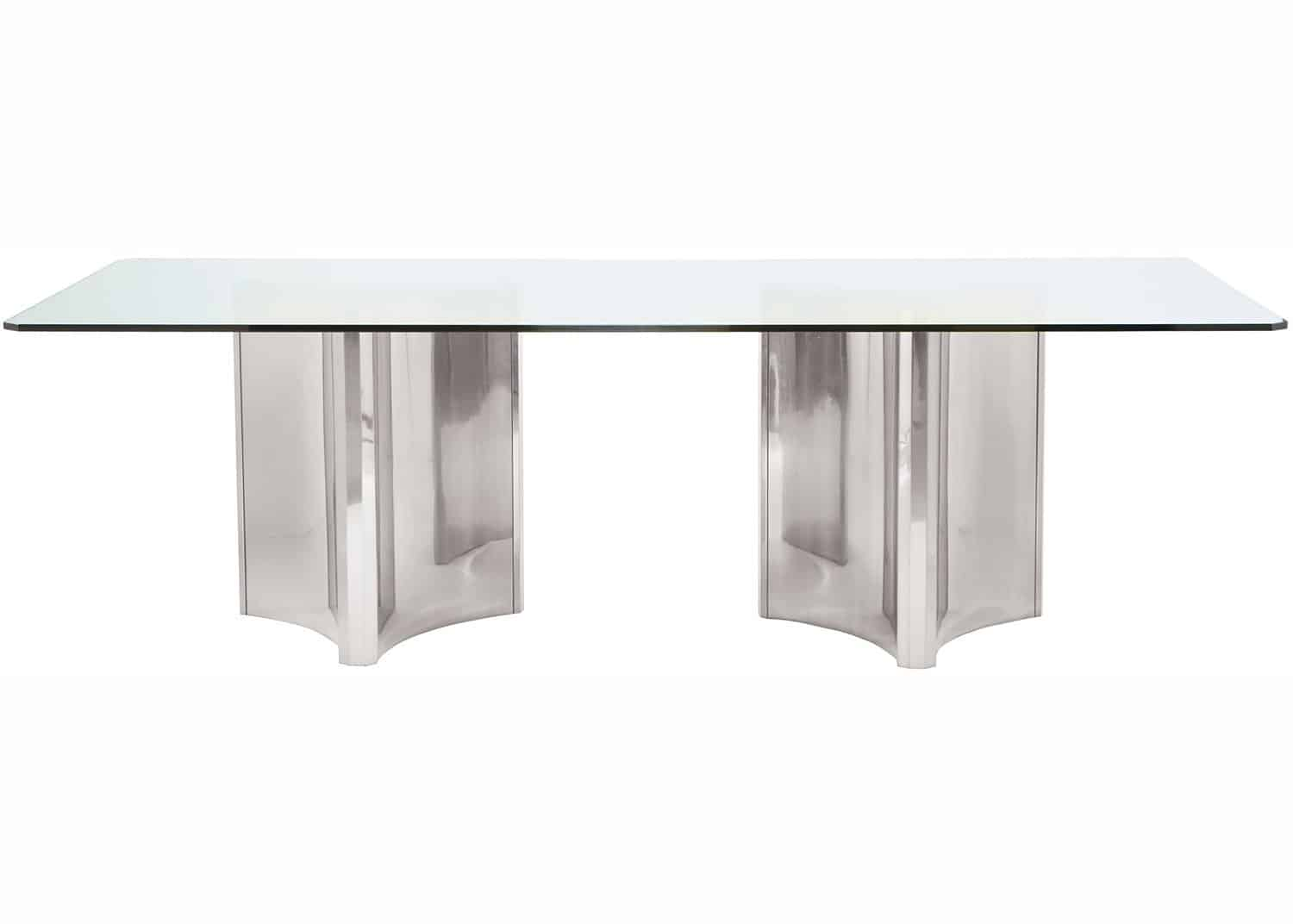 stainless steel pedestal base table