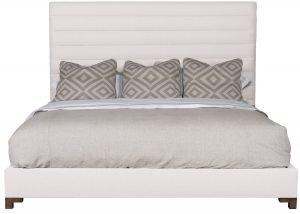 fabric headboard bed