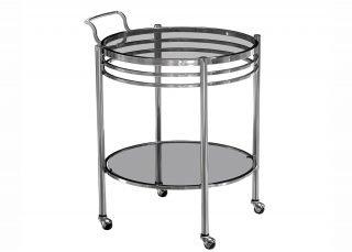 metalic wine cart