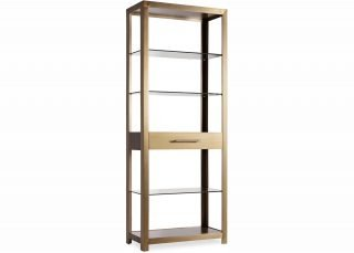 contemporary brushed brass bookcase