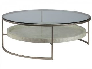 Round Capiz Cocktail Table