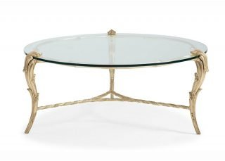 round baroque cocktail table