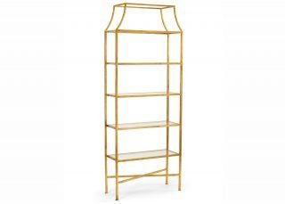 gold leaf display shelves
