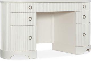 Ivory white executive desk