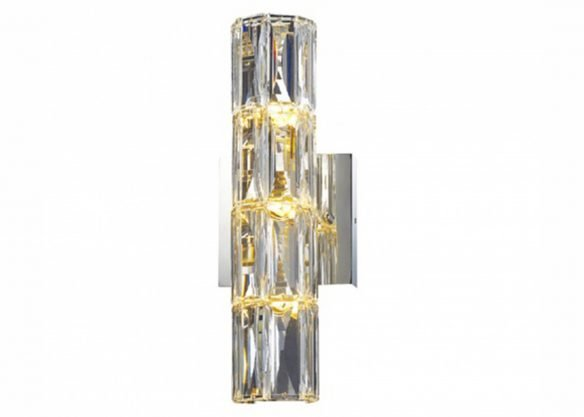 crystal tublular wall sconce