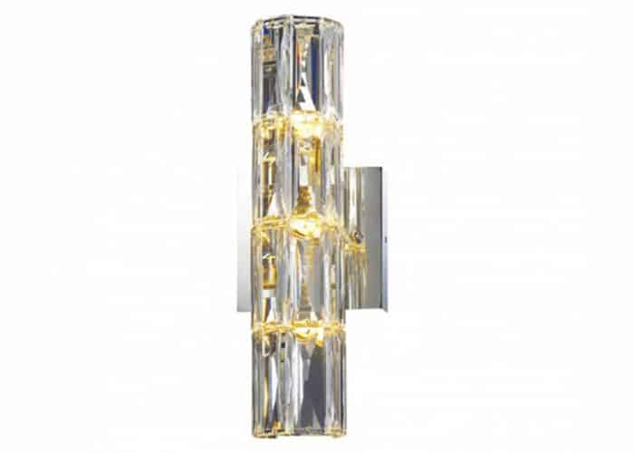 crystal tublular wall sconce