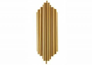 tubular gold steel wall sconce