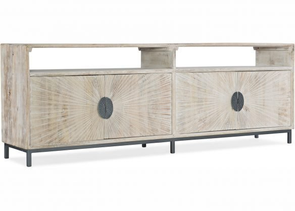 white-washed four door entertainment console