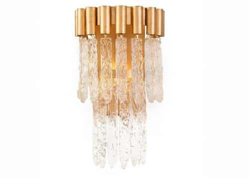 contemporary crystal wall sconce