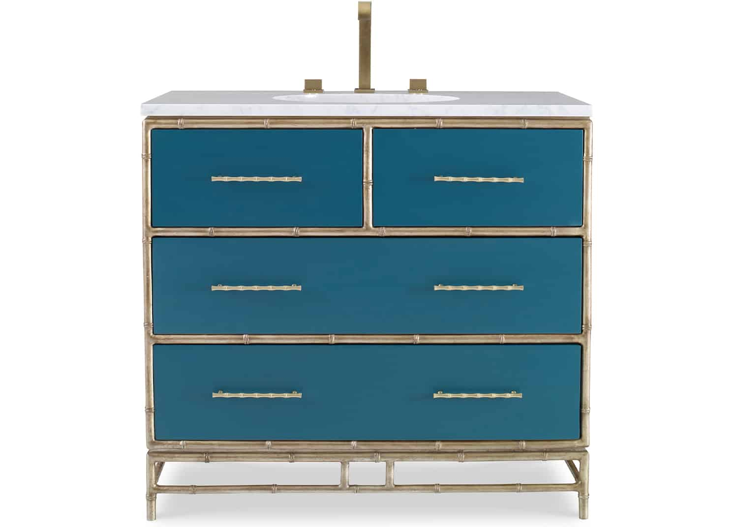 Chinoiserie Bathroom Vanity Cabinet