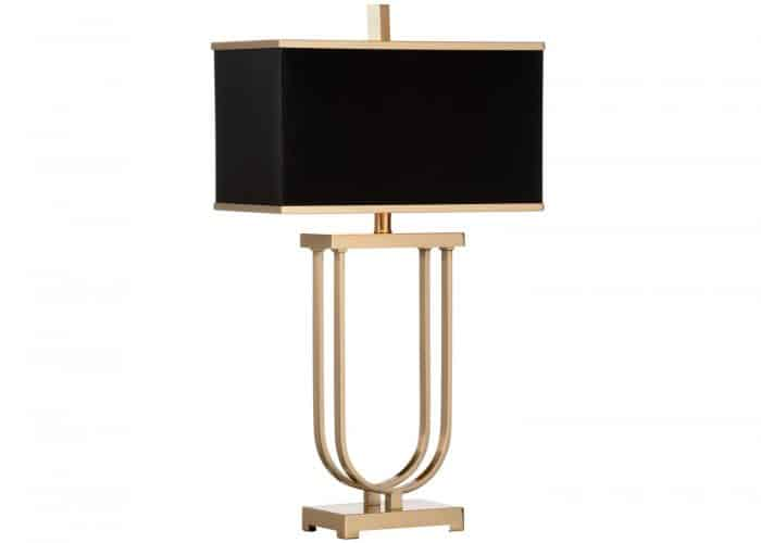rectangular contemporary urn lamp