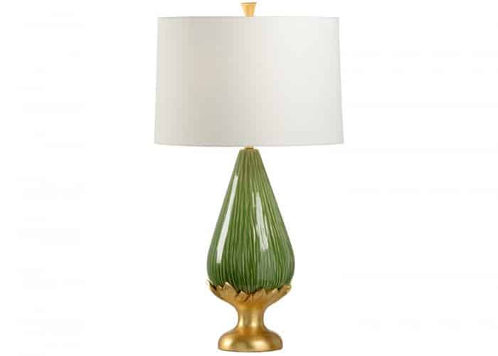 Kiwi green ceramic lamp