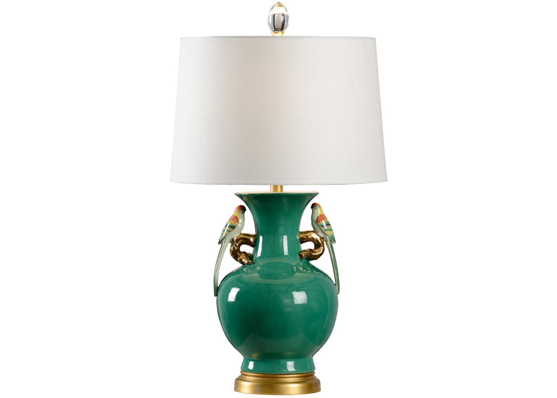 green glazed porcelain lamp