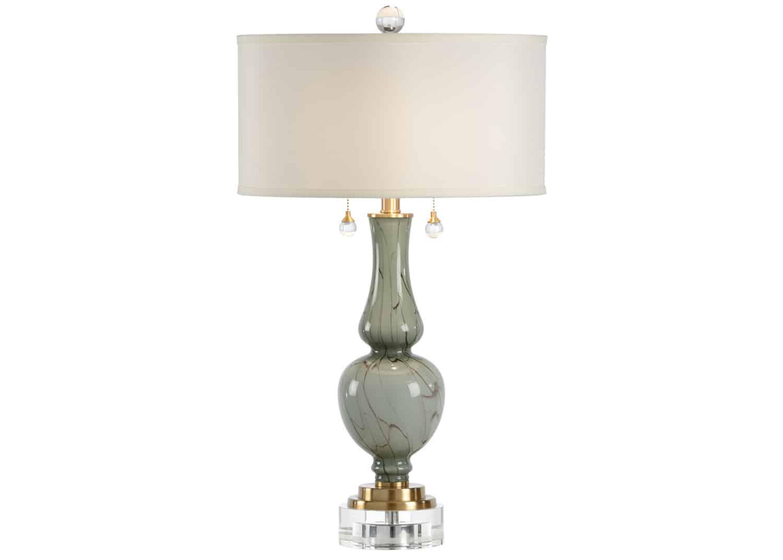 gourd shaped art glass lamp