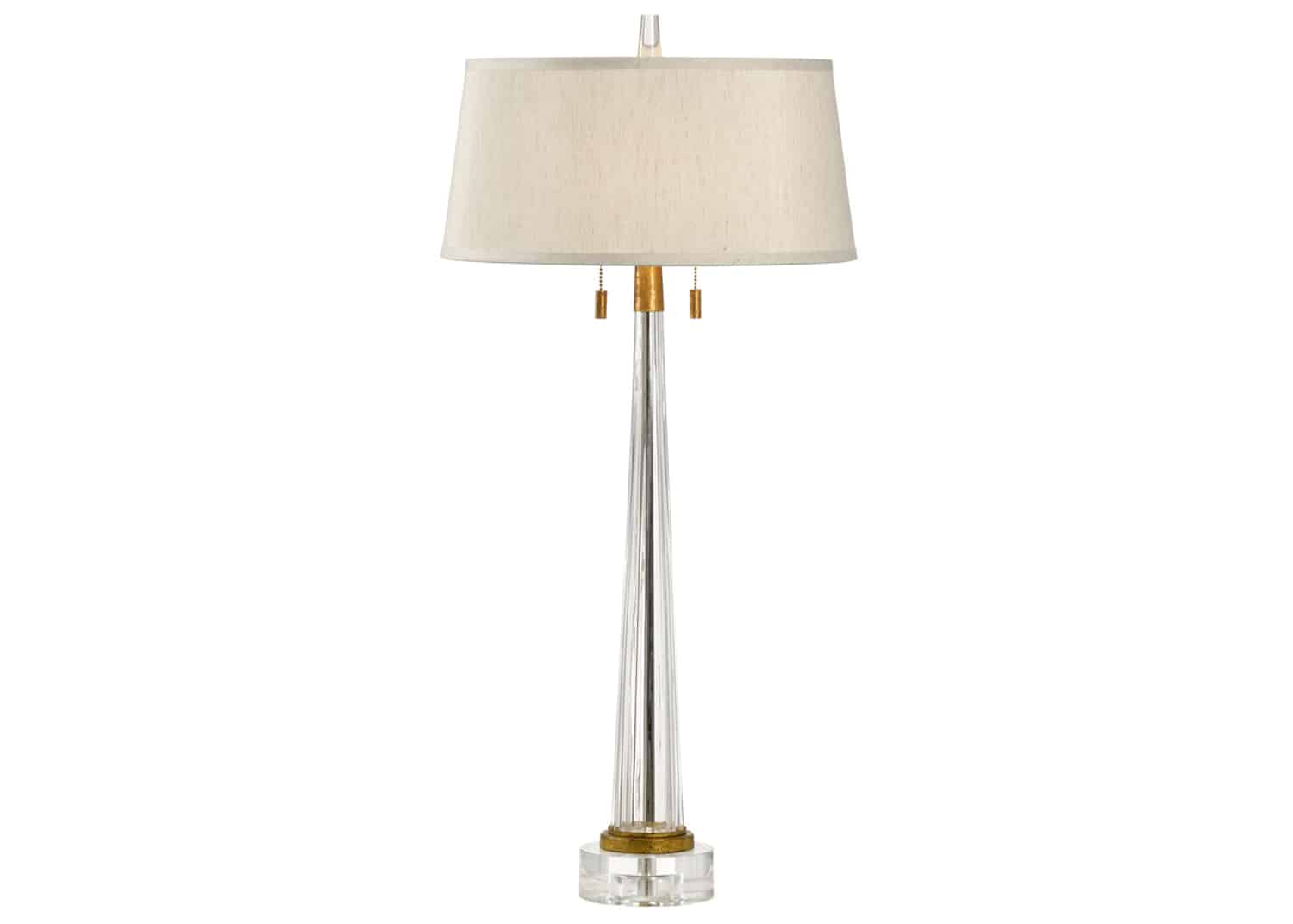 Glass and gold leaf table lamp