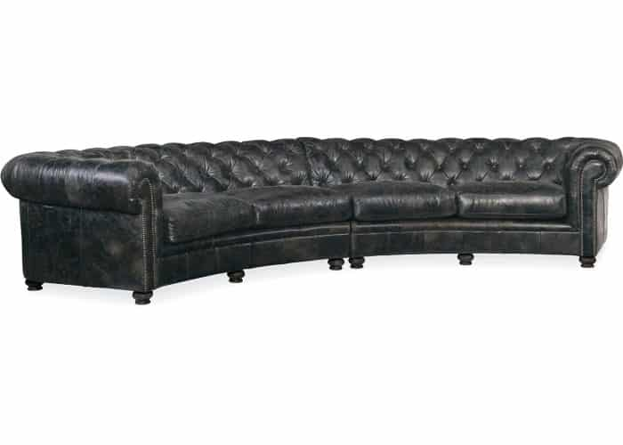 leather chesterfield sectional sofa