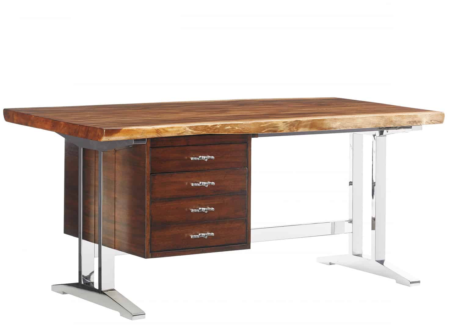 Solid wood top executive desk