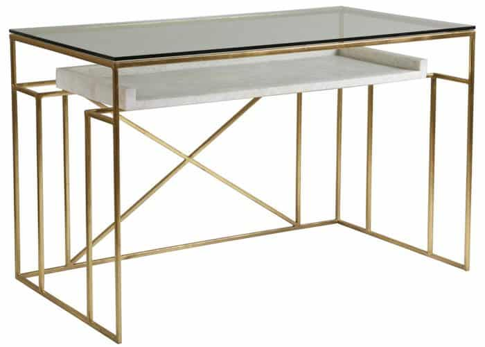 contemporary gold writing table