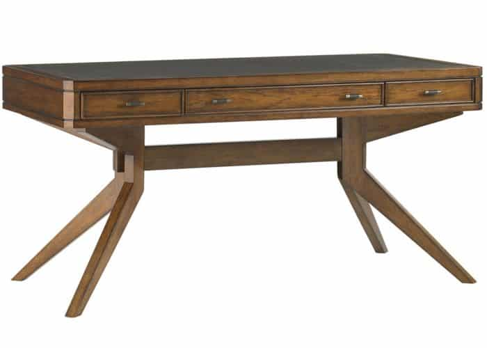 Contemporary hickory writing table