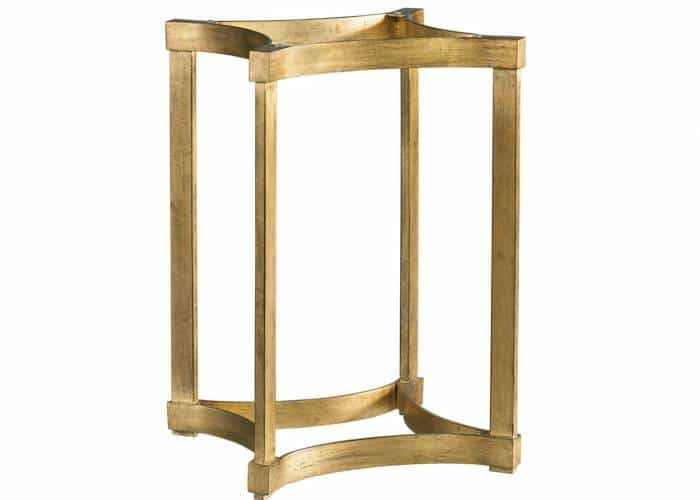 Gold dining table pedestal