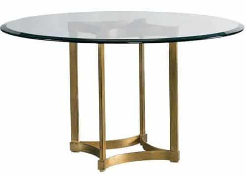Gold metal dining tabe base
