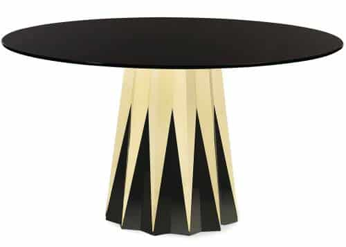 black glass top dining table