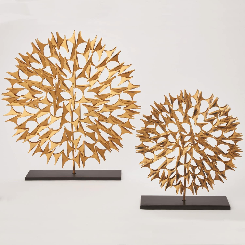 Gold Cosmos Sculpture