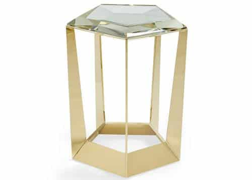 metal and glass accent table
